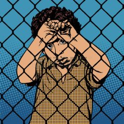 47189564-migrants-gar-on-de-r-fugi-s-d-enfants-derri-re-les-barreaux-de-la-limite-de-la-prison-pop-art-style